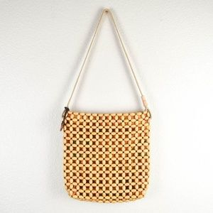 The Sak Wooden Beaded Purse Shoulder Handbag